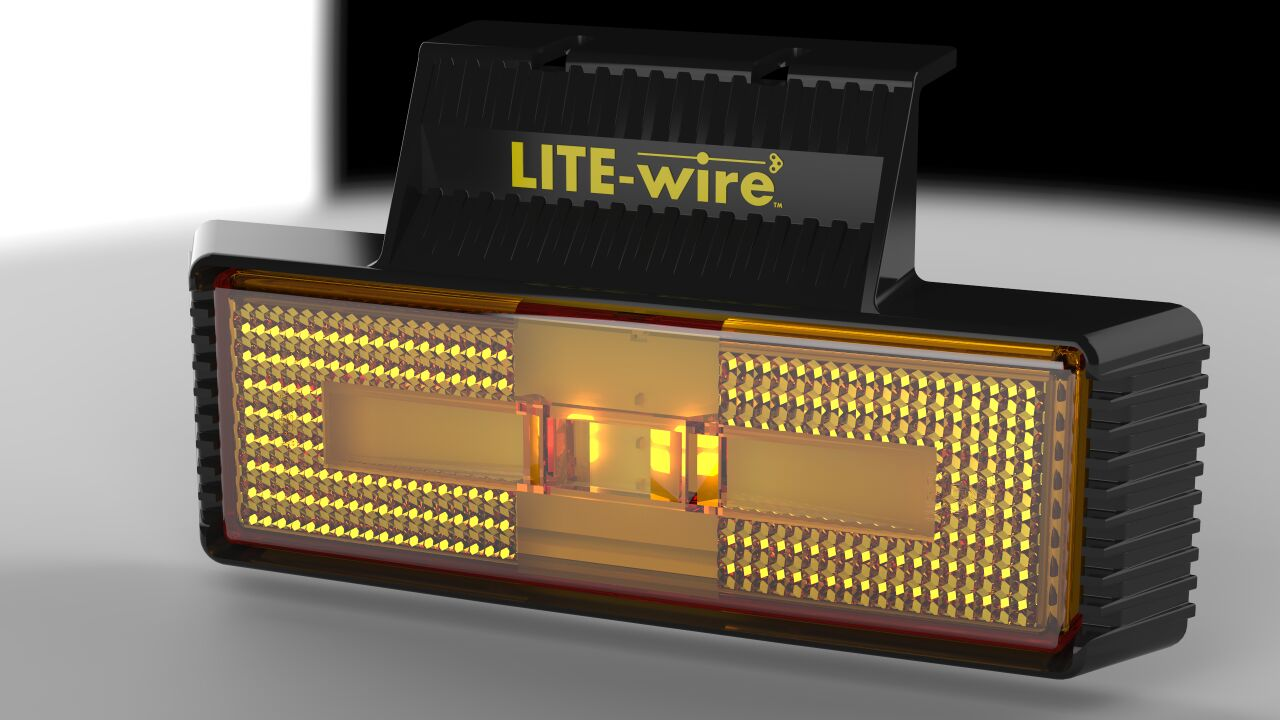 Lite-wire LED side marker lamp