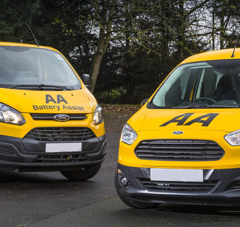 AA breakdown and Battery Assist vans
